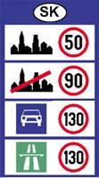Szlovákia sebesség határok