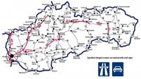 Szlovákia autó térkép